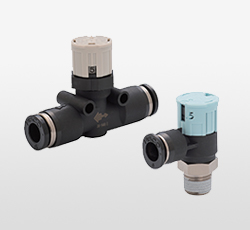 Push Lock Flow Control Valve with Indicator (Tamper-Proof)